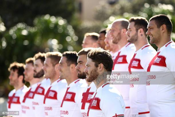 Chris McQueen of England looks on during a team photo during an England Media Opportunity on May 2 2017 in Sydney Australia