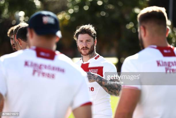 Chris McQueen of England prepares for training during an England Media Opportunity on May 2 2017 in Sydney Australia