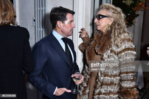Chris Meigher and Eleanora Kennedy attend QUEST VHERNIER Host Luncheon at MAJORELLE at Majorelle on October 17 2017 in New York City