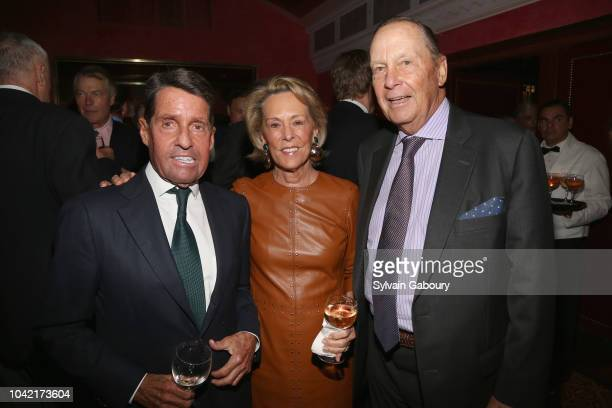 Chris Meigher Anne Geddes and Robin Geddes attend David Patrick Columbia And Chris Meigher Toast The QUEST 400 At DOUBLES on September 27 2018 in New...