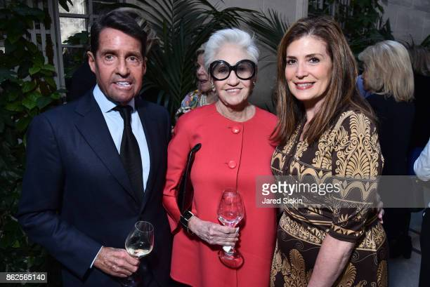 Chris Meigher Susie Elson and Rene Gandelman attend QUEST VHERNIER Host Luncheon at MAJORELLE at Majorelle on October 17 2017 in New York City