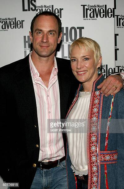 Chris Meloni and his wife Sherman Williams arrive for the Conde Nast Traveler Hot List Party on April 27 2005 in New York City