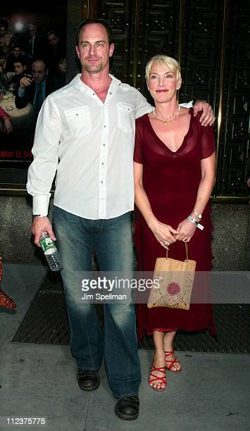 Chris Meloni wife Sherman during The Sopranos 4th Season Premiere at Radio City Music Hall in New York City New York United States
