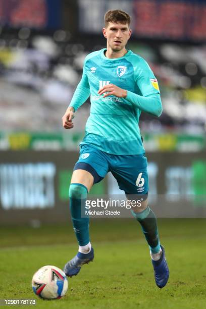 Chris Mepham of Bournemouth during the Sky Bet Championship match between Swansea City and AFC Bournemouth at Liberty Stadium on December 08, 2020 in...