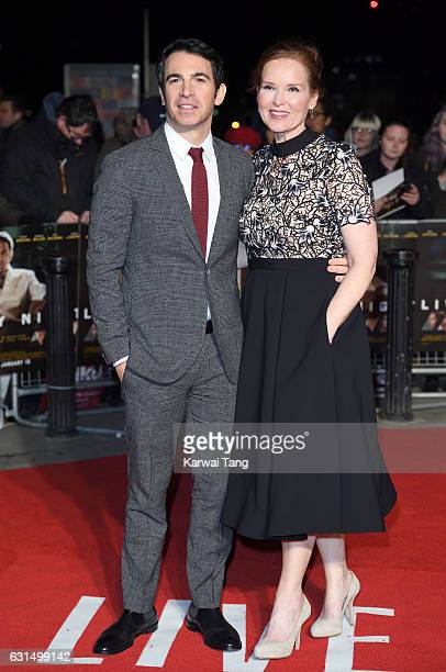 Chris Messina and Jennifer Todd attend the European Film Premiere of Live By Night at The BFI Southbank on January 11 2017 in London United Kingdom