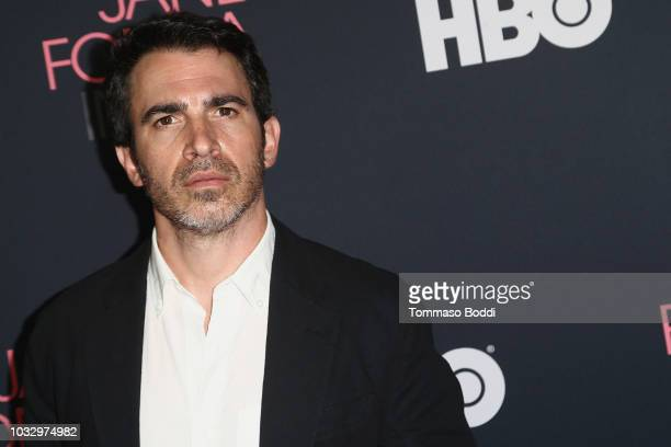"""Chris Messina attends the Premiere Of HBO's """"Jane Fonda In Five Acts"""" at Hammer Museum on September 13, 2018 in Los Angeles, California."""