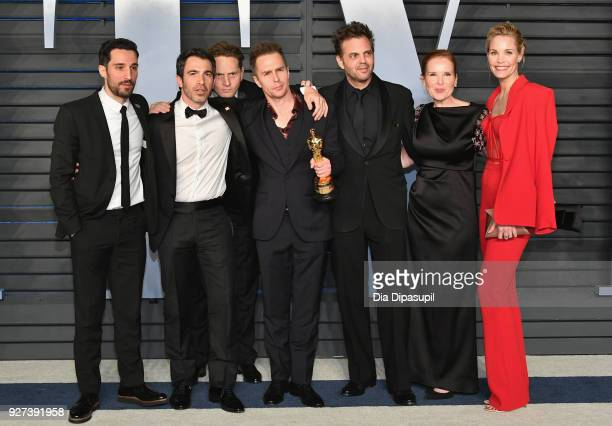 Chris Messina Matt Ross Sam Rockwell and Leslie Bibb attend the 2018 Vanity Fair Oscar Party hosted by Radhika Jones at Wallis Annenberg Center for...