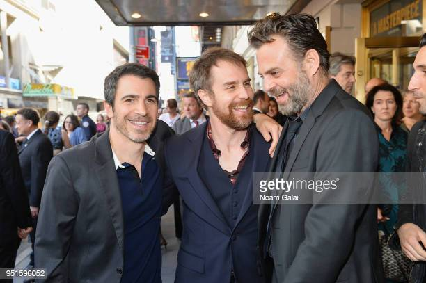 Chris Messina Sam Rockwell and guest attend The Iceman Cometh opening night on Broadway on April 26 2018 in New York City