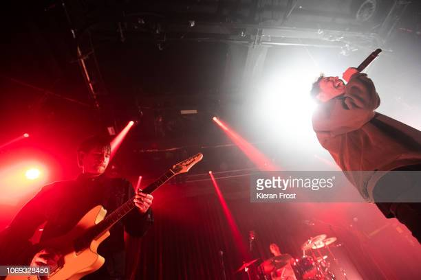 Chris Miller and Josh Franceschi of You Me At Six performs at The Academy on November 18 2018 in Dublin Ireland