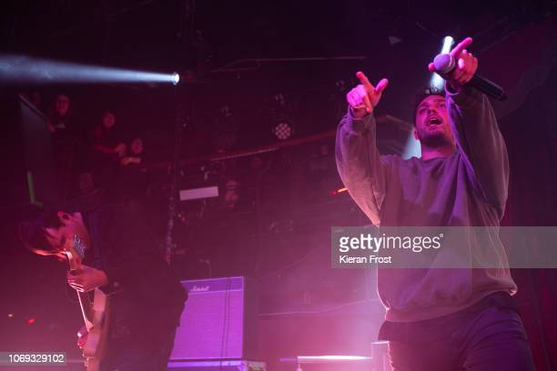 Chris Miller and Josh Franceschi of You Me At Six performsat The Academy on November 18 2018 in Dublin Ireland