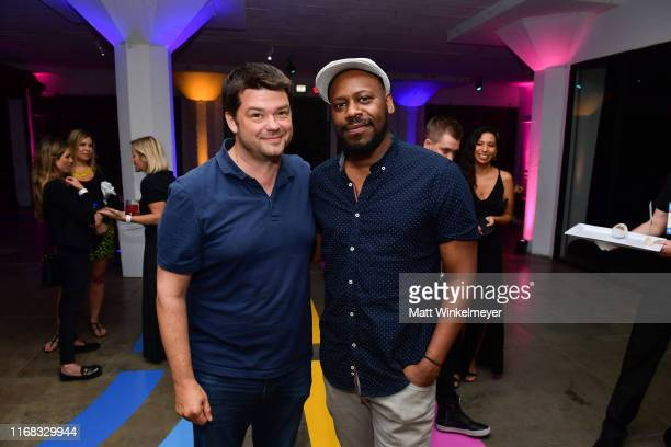 Chris Miller and Malcolm Barrett attend the premiere of Amazon Studios' Brittany Runs A Marathon on August 15 2019 in Los Angeles California