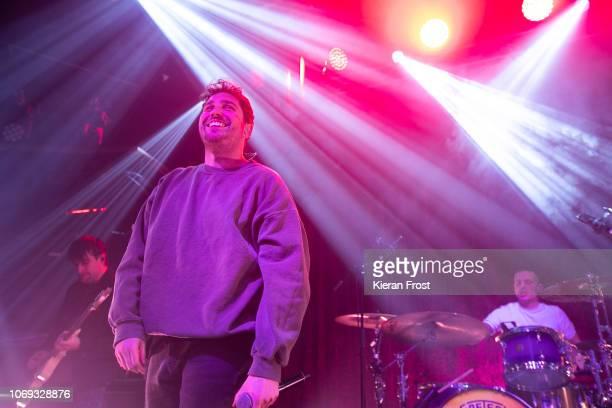 Chris Miller Josh Franceschi and Dan Flint of You Me At Six perform at The Academy on November 18 2018 in Dublin Ireland