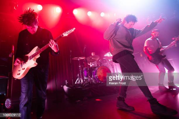 Chris Miller Josh Franceschi Dan Flint and Matt Barnes of You Me At Six perform at The Academy on November 18 2018 in Dublin Ireland