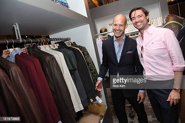 Chris Mitchell and Brendan Monaghan of GQ attend the Andrew Marc Trunk Show hosted by Brett Fahlgren at the GQ Nordstrom Men's Popup Store at...
