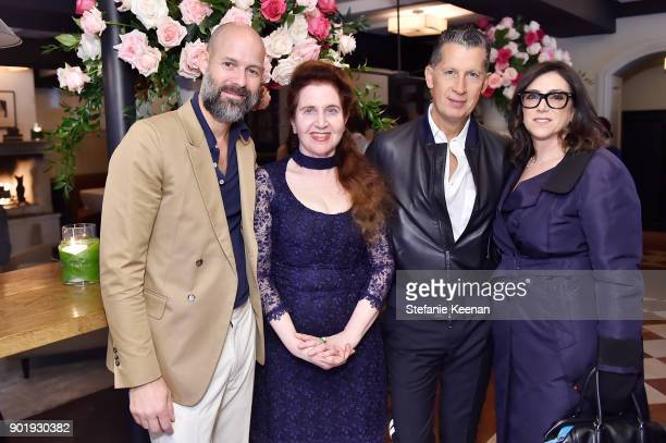 Chris Mitchell Lynn Hirschberg Stefano Tonchi and Stacey Sher attend Lynn Hirschberg Celebrates W Magazine's It Girls With Dior at AOC on January 6...