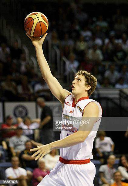 Chris Molitor of the 36ers drives to the basket during the round 10 NBL match between the Wollongong Hawks and the Adelaide 36ers at Wollongong...