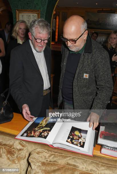 Chris Moore and Sam McKnight attend the launch of new book Catwalking Photographs By Chris Moore hosted by the British Fashion Council at Annabel's...