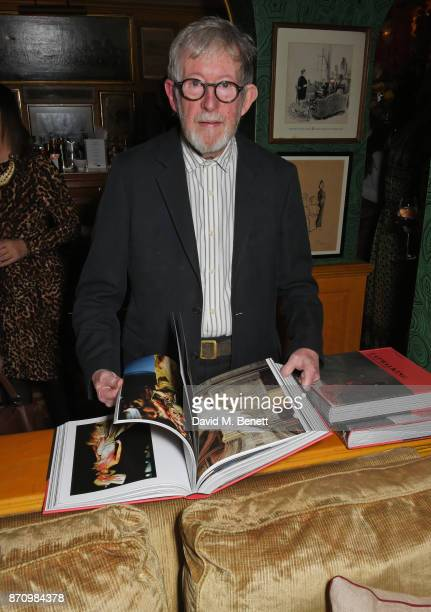 Chris Moore attends the launch of new book 'Catwalking Photographs By Chris Moore' hosted by the British Fashion Council at Annabel's on November 6...