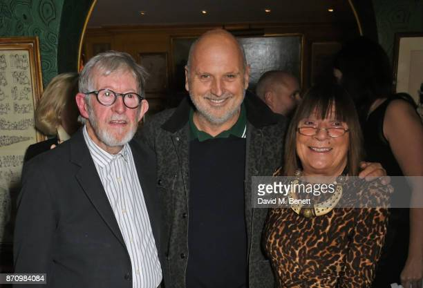 Chris Moore Sam McKnight and Hilary Alexander attend the launch of new book Catwalking Photographs By Chris Moore hosted by the British Fashion...