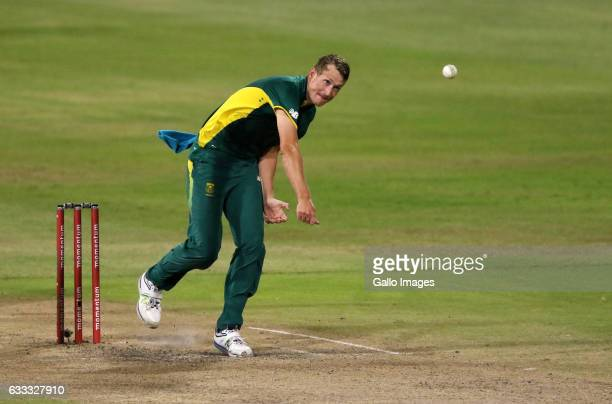 Chris Morris during the 2nd ODI between South Africa and Sri Lanka at Sahara Stadium Kingsmead on February 01 2017 in Durban South Africa
