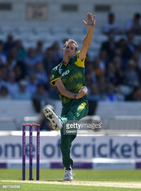 Chris Morris of South Africa bowls during the 1st Royal London ODI match between England and South Africa at Headingley on May 24 2017 in Leeds...