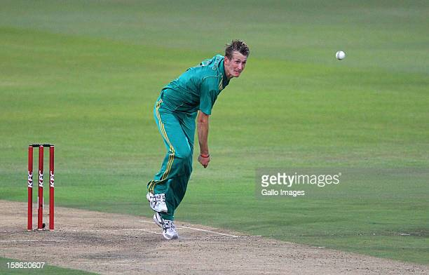 Chris Morris of South Africa bowls during the 1st T20 match between South Africa and New Zealand at Sahara Park Kingsmead on December 21 2012 in...