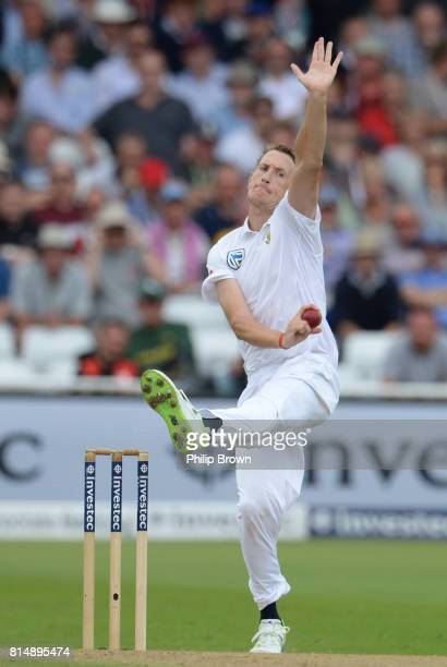 Chris Morris of South Africa bowls during the second day of the 2nd Investec Test match between England and South Africa at Trent Bridge cricket...