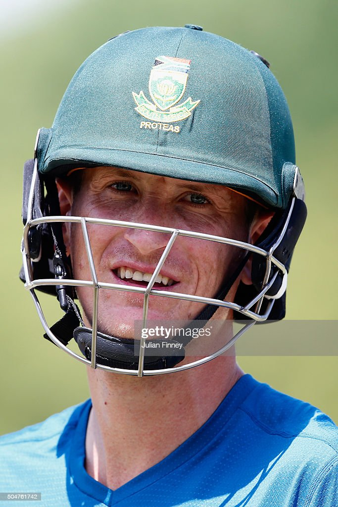 Chris Morris of South Africa looks on during South Africa media access at the Wanderers Stadium on January 13, 2016 in Johannesburg, South Africa.
