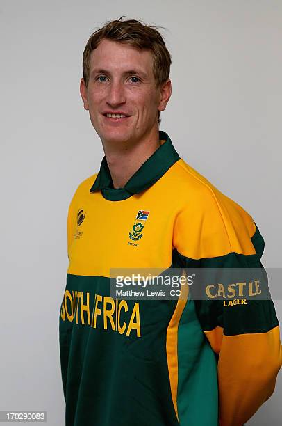 Chris Morris of South Africa poses during the ICC Champions Trophy Group B match between Pakistan and South Africa at Edgbaston on June 10 2013 in...