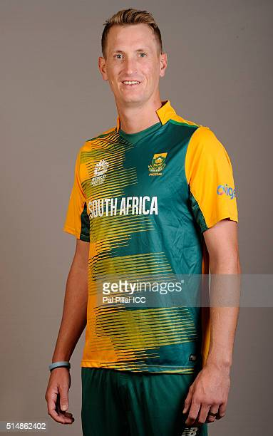 Chris Morris of South Africa poses during the official photocall for the ICC Twenty20 World on March 11 2016 in Mumbai India