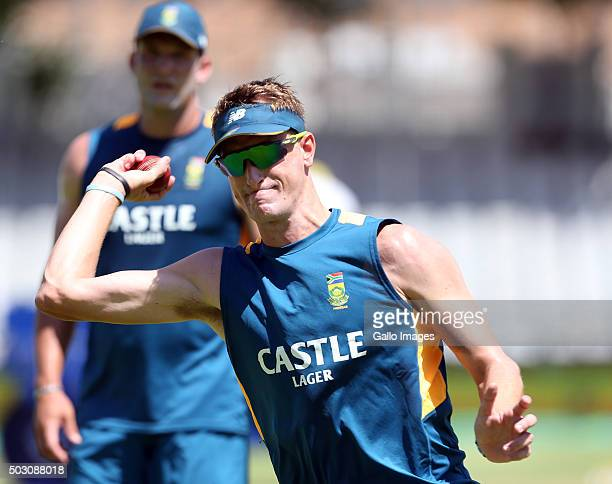Chris Morris of the Proteas during the South African national cricket team training session at PPC Cement Newlands on January 01 2016 in Cape Town...