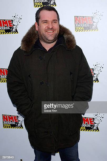 Chris Moyles arrives at the NME Awards 2004 at The Hammersmith Palais on February 12 2004 in London The winners at the annual awards are decided by a...