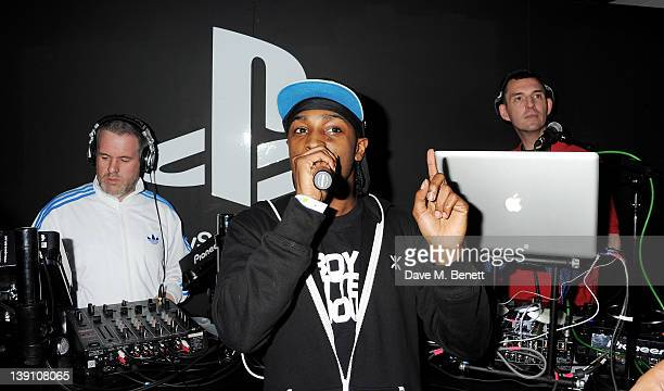 Chris Moyles JME and Tim Westwood attend the PlayStation Vita Rooms prelaunch event ahead of the console's official February 22 release at the Vita...