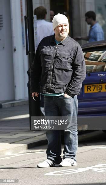 Chris Moyles leaving Radio One on September 25 2009 in London England