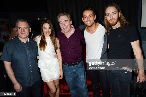 Chris Moyles Mel C Andrew Lloyd Webber Ben Forster and Tim Minchin attend the afterparty for the press night of Jesus Christ Superstar the arena tour...