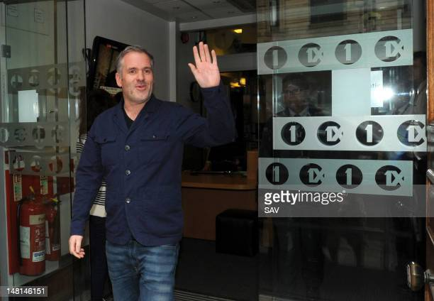 Chris Moyles pictured leaving Radio 1 after announcing on air that he is quitting the breakfast show on July 11 2012 in London England
