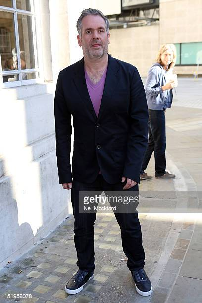 Chris Moyles seen outside BBC Broadcasting House after his penultimate Radio Breakfast Show on September 13 2012 in London England
