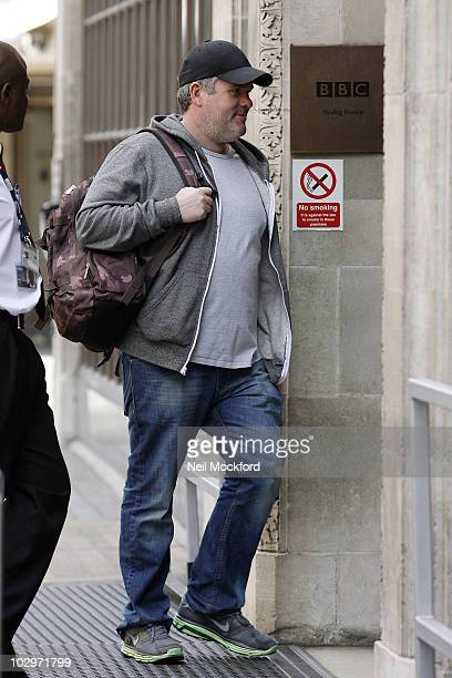 Chris Moyles Sighted arriving at BBC Radio One on July 19 2010 in London England