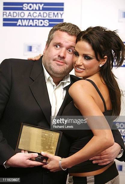 Chris Moyles winner of the Entertainment Award for Radio 1 Show and Katie Price