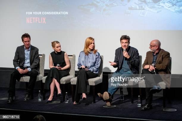 Chris Mundy Julia Garner Laura Linney Jason Bateman and Joe Neumaier attends the 'Ozark' FYC Screening and Panel at Crosby Street Hotel on May 20...