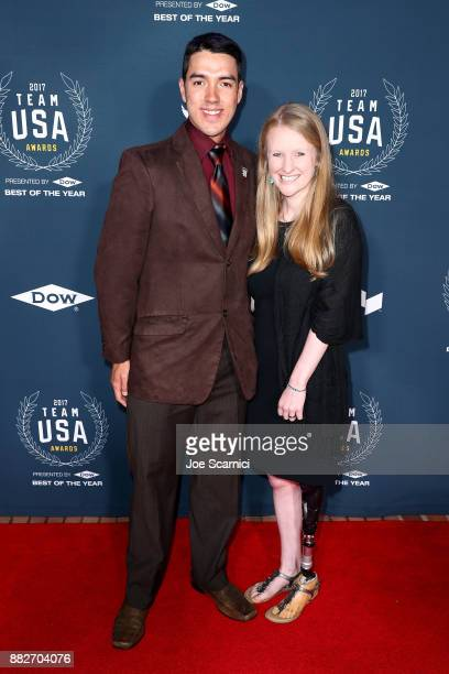 Chris Murphy and Kelly Casebere attend the 2017 Team USA Awards on November 29 2017 in Westwood California
