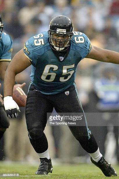 Chris Naeole of the Jacksonville Jaguars in action during a game against the Indianapolis Colts on November 9 2003 at the Alltel Stadium in...