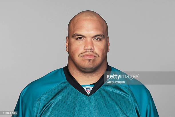 Chris Naeole of the Jacksonville Jaguars poses for his 2006 NFL headshot at photo day in Jacksonville Florida