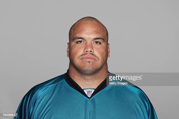 Chris Naeole of the Jacksonville Jaguars poses for his 2007 NFL headshot at photo day in Jacksonville Florida