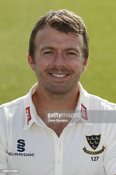 Chris Nash during the Sussex County Cricket Photocall at BrightonandHoveJobs.com County Ground on April 9, 2015 in Hove, England.