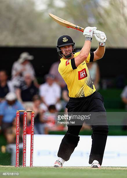 Chris Nash of Sussex bats during the Emirates Airline T20 Cup match between Marylebone Cricket Club and Sussex at the Sevens Stadium on March 20 2015...