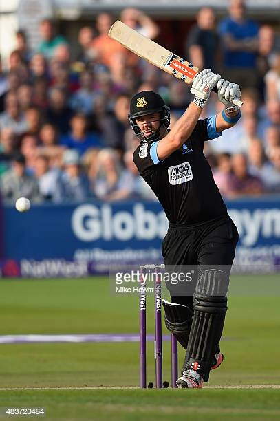 Chris Nash of Sussex hits out during the NatWest T20 Blast Quarter Final between Sussex Sharks v Northamptonshire Steelbacks at...