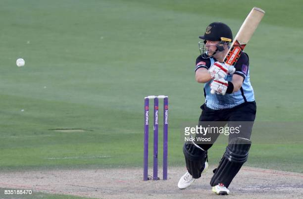 Chris Nash of Sussex in batting action during the Sussex v Essex NatWest T20 Blast cricket match at the 1st Central County Ground on August 18 2017...