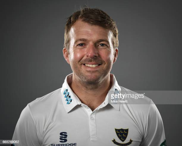 Chris Nash of Sussex poses for a portrait during a Sussex CCC Photocall at The 1st Central County Ground on April 5 2017 in Hove England