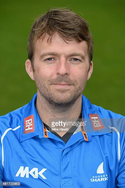 Chris Nash of Sussex poses for a portrait in the Royal London OneDay Cup kit during a Sussex CCC photocall at the County Ground on March 31 2014 in...